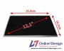 """Laptop LCD Scherm 12,1"""" 1366x768 WXGA HD Glossy Widescreen (LE"