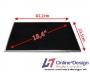 """Laptop LCD Scherm 18,4"""" 1680x945 WSXGA+ Glossy Widescreen"""