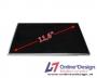"""Laptop LCD Scherm 11,6"""" 1366x768 WXGA Glossy Widescreen (LED)"""