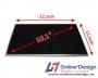 """Laptop LCD Scherm 10,1"""" 1366x768 WXGA HD Glossy Widescreen LED"