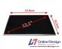 """Laptop LCD Scherm 12,1"""" 1366x768 WXGA HD Glossy Widescreen (LE"